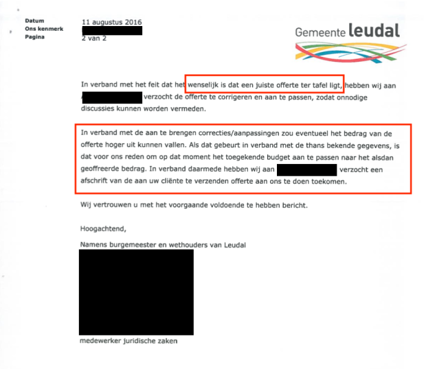 Brief Gemeente Leudal 11 aug 2016 pag 2