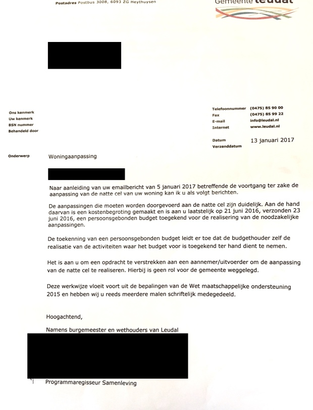 Brief Gemeente Leudal 13 jan 2017.JPG