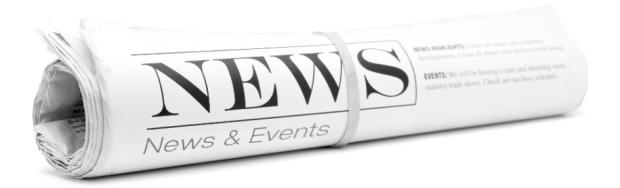 Company NEWS website header