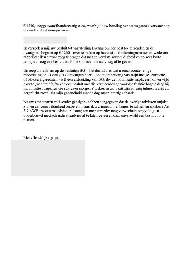 VORDERING VAN DWANGSOM PAGE 2(14 februari 2018)