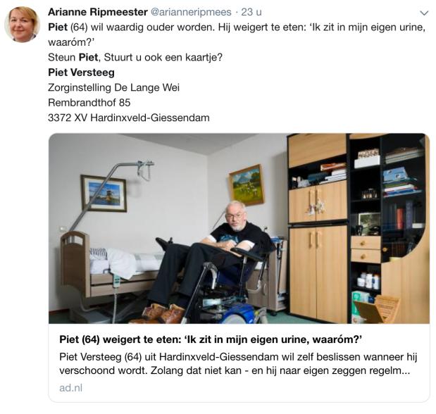 Oproep Piet Versteeg hongerstakende MS gehandicaptepatient.png